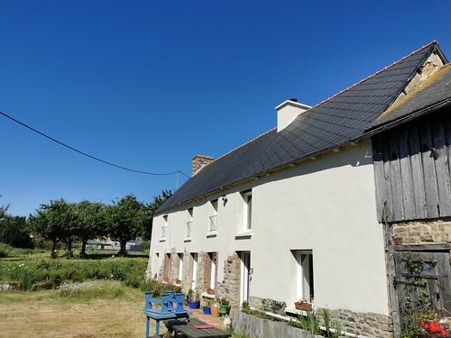 Ravalement de façade et traitement hydrofuge sur toiture fibrociment - Côtes-d''Armor (22)