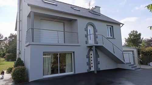 Rénovation façade - Plérin : avant / après