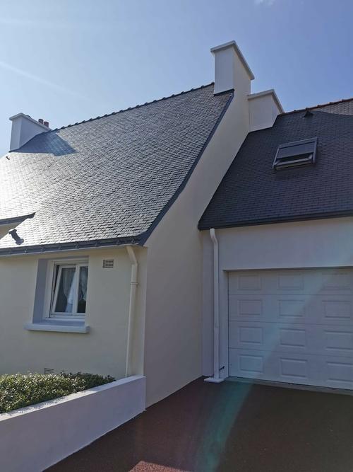 Rénovation toit ardoise naturelle & façade - Queven