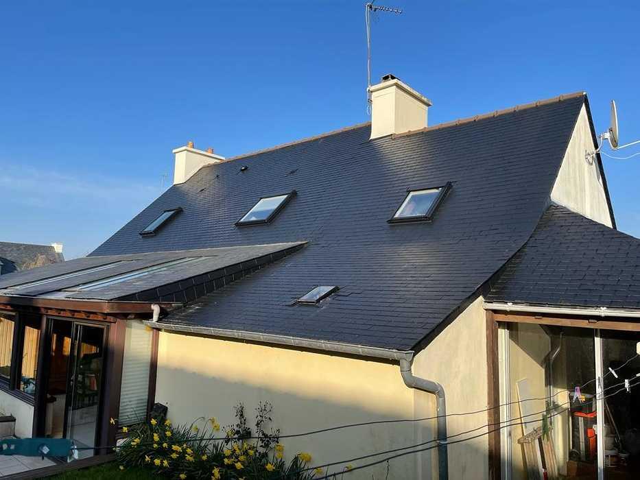 Traitementhydrofuge toiture fibrociment amiante - Saint Julien 3